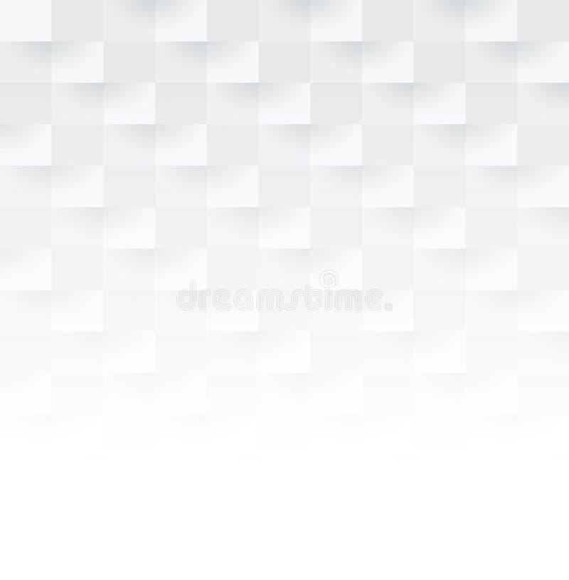 白色抽象背景传染媒介 库存例证