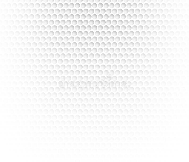 白色抽象背景有金属背景 圆的细胞栅格  与3D作用的背景 皇族释放例证