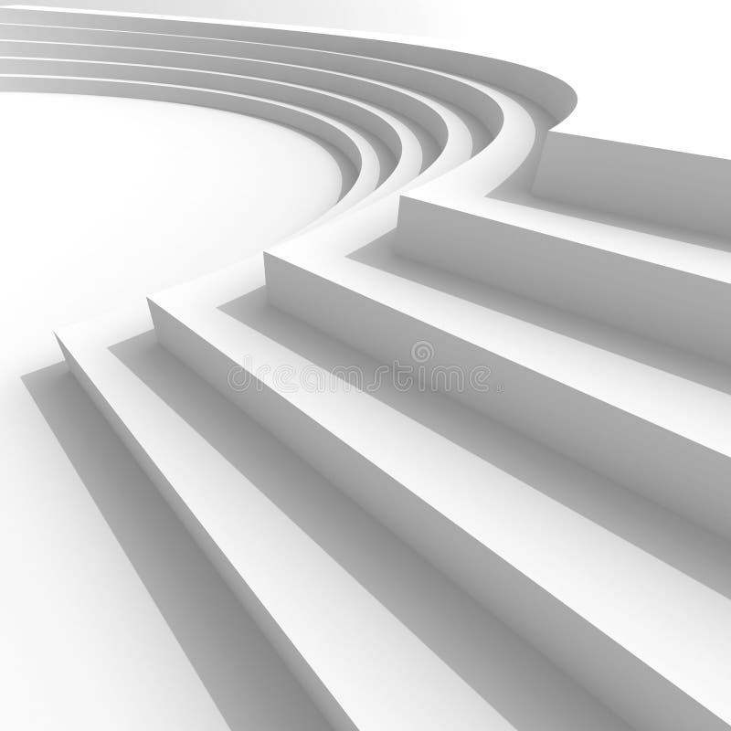 白色抽象建筑学背景 皇族释放例证