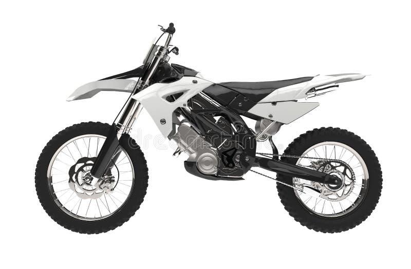 白色摩托车越野赛自行车 向量例证
