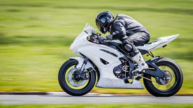 白色摩托车 库存图片
