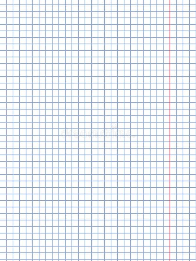 白色方格纸板料背景,传染媒介例证 库存例证