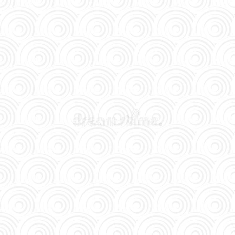 白色无缝的传统日本seigaiha海浪样式 向量例证