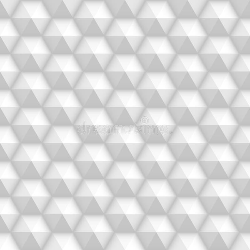 白色无缝的蜂窝织地不很细瓦片 向量例证