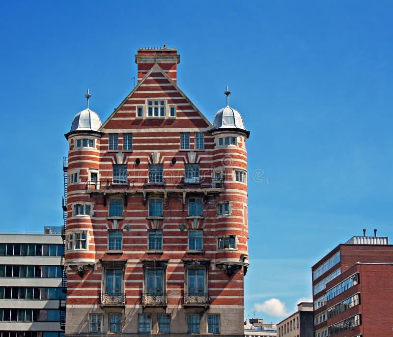 白色星线大厦在利物浦,英国 免版税图库摄影