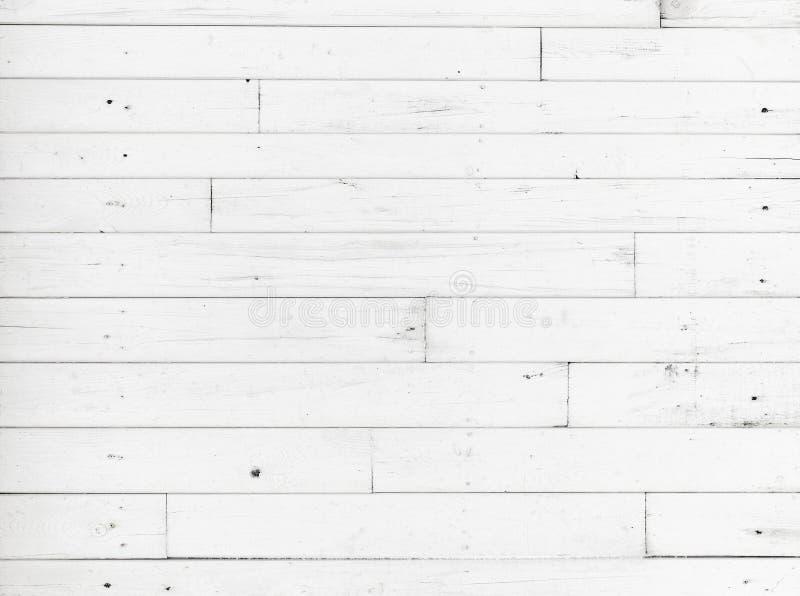 白色木墙壁,详细的背景纹理 免版税库存照片