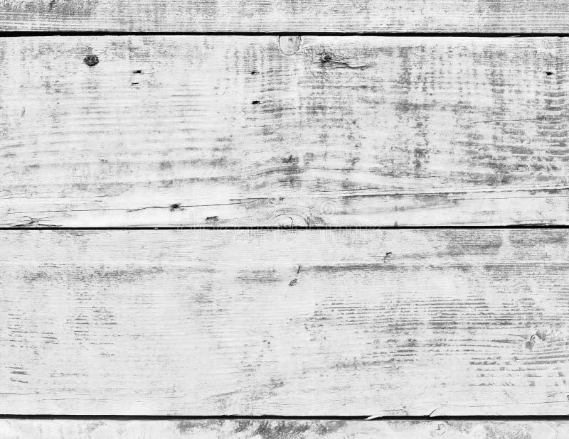 白色木木葡萄酒板条地板墙壁表面 图库摄影