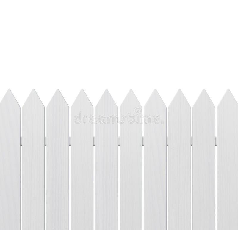 白色木篱芭 免版税库存照片