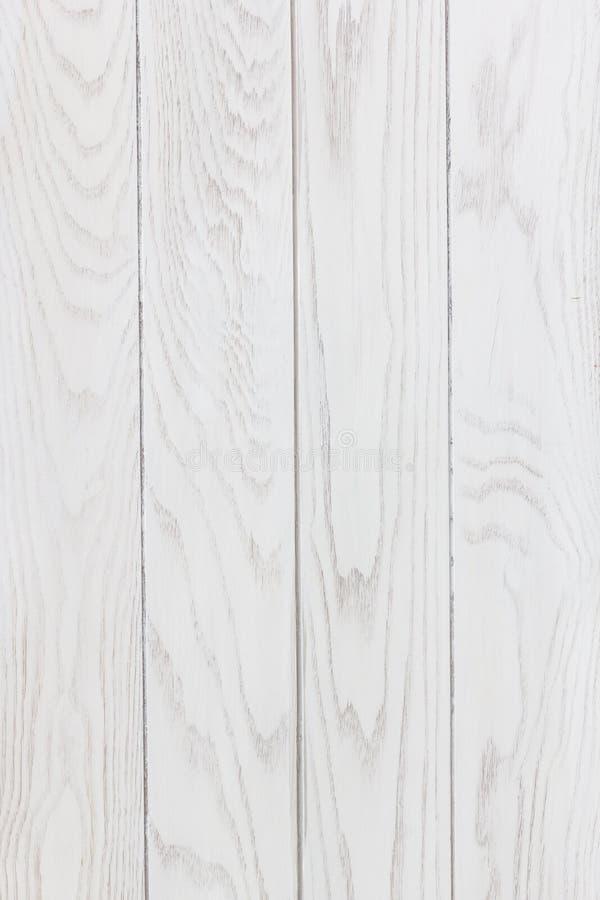 白色木纹理垂直背景 库存照片