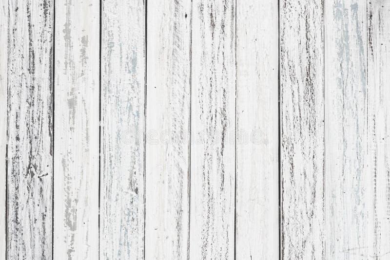 白色木纹理有自然样式背景 免版税库存照片