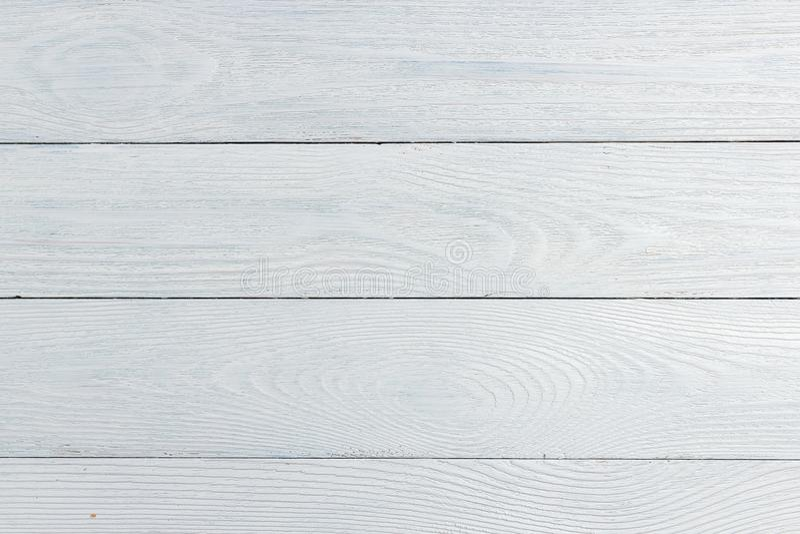 白色木纹理背景,木台式视图 库存照片