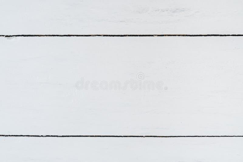 白色木纹理背景,木台式视图 库存图片
