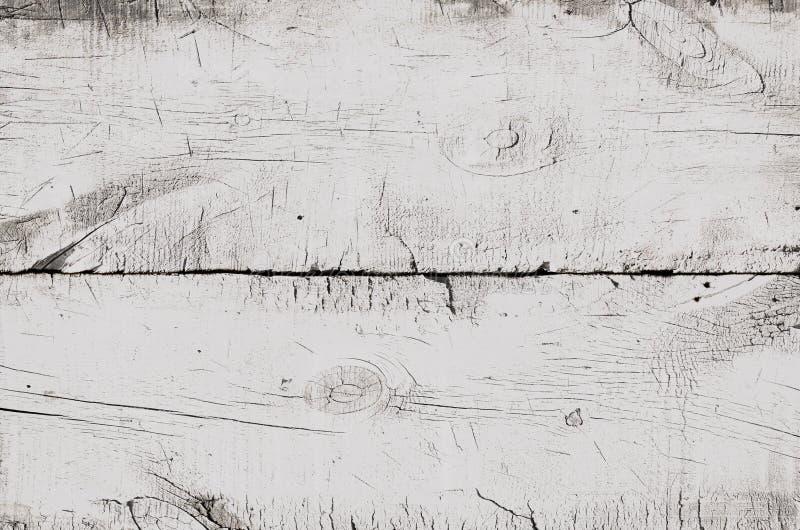 白色木纹理,空的木桌顶视图  关闭色的土气墙壁背景,老顶面桌纹理,难看的东西 库存图片
