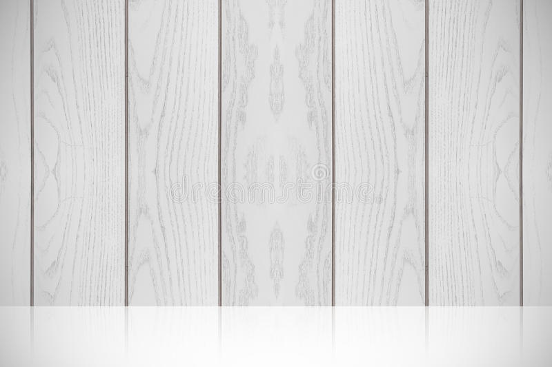 白色木纹理水平的背景 免版税图库摄影