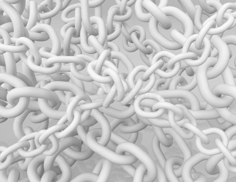 白色束缚许多 库存例证