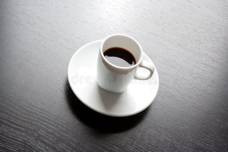 白色杯子用无奶咖啡 库存照片