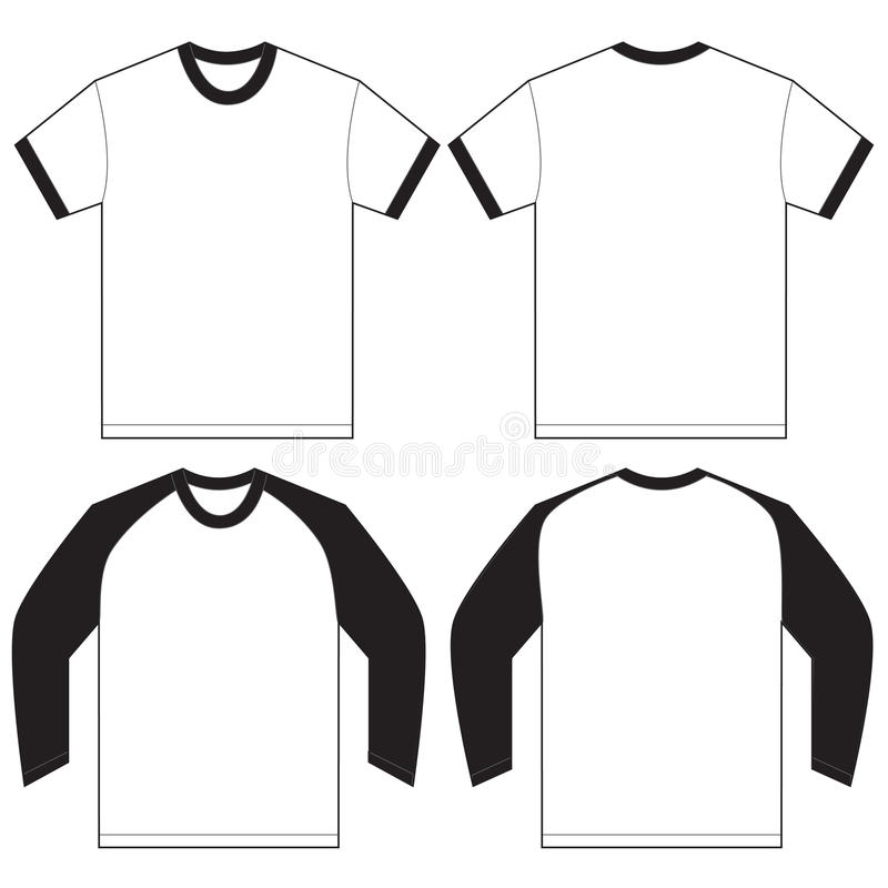 黑白色枪手T恤杉设计模板 向量例证