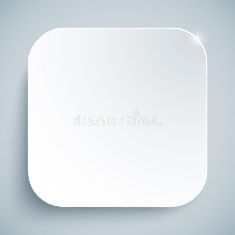 白色标准象传染媒介空的模板 皇族释放例证