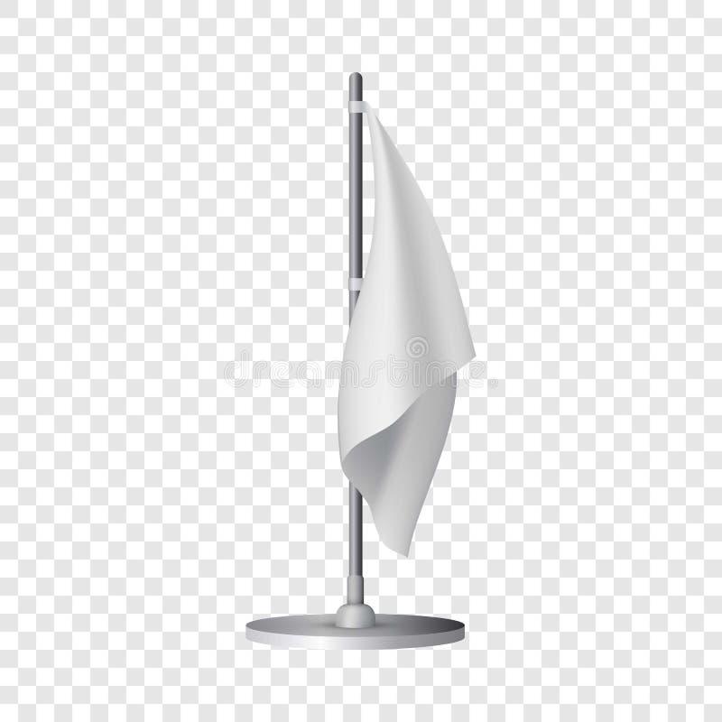 白色桌旗子大模型,现实样式 皇族释放例证