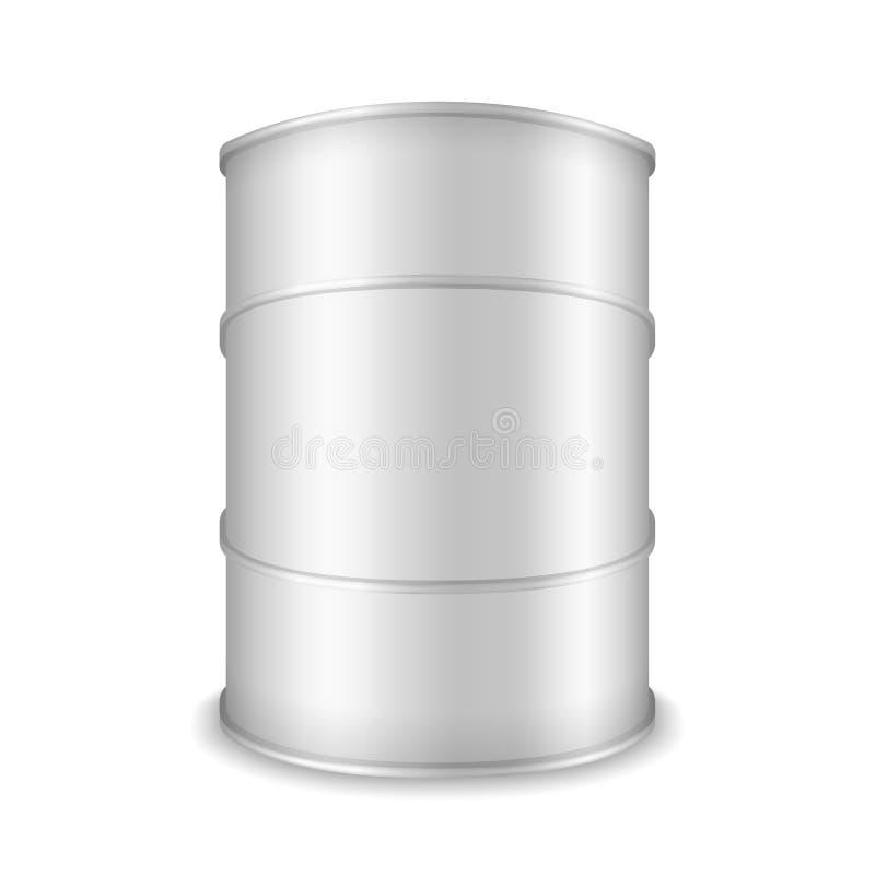 白色桶 向量例证