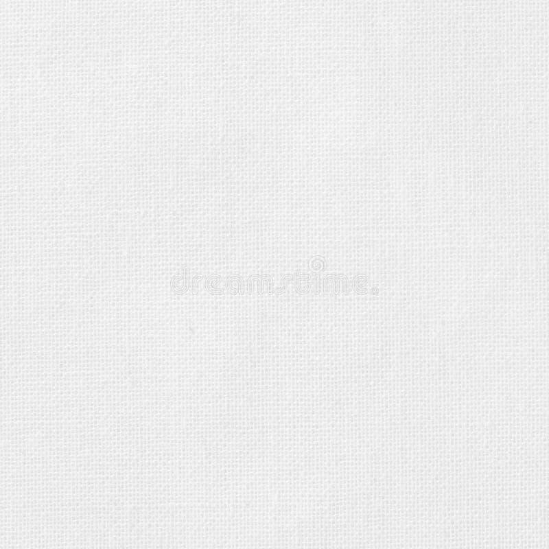 白色棉织物纹理背景,自然纺织品的无缝的样式 免版税库存图片
