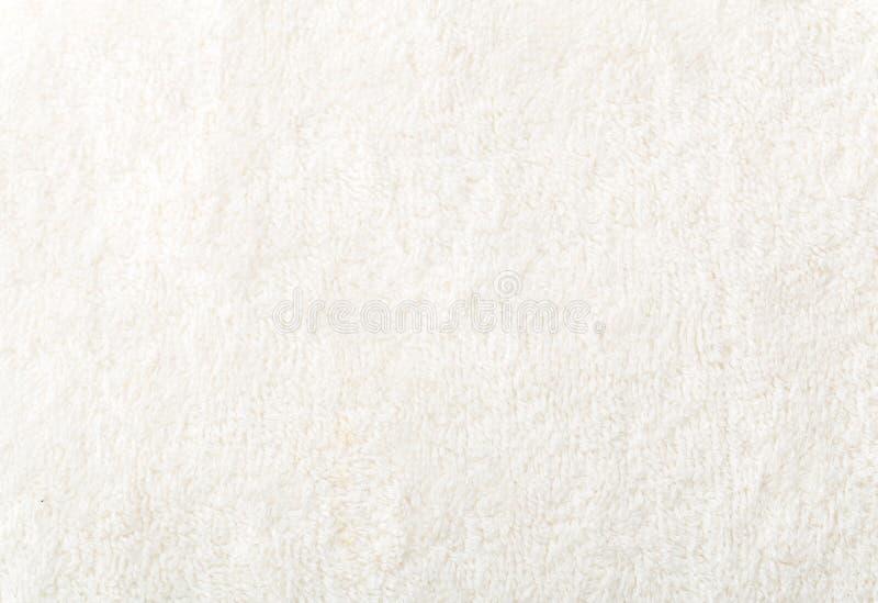 白色棉花毛巾纹理 库存照片