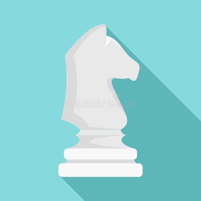 白色棋马象,平的样式 向量例证