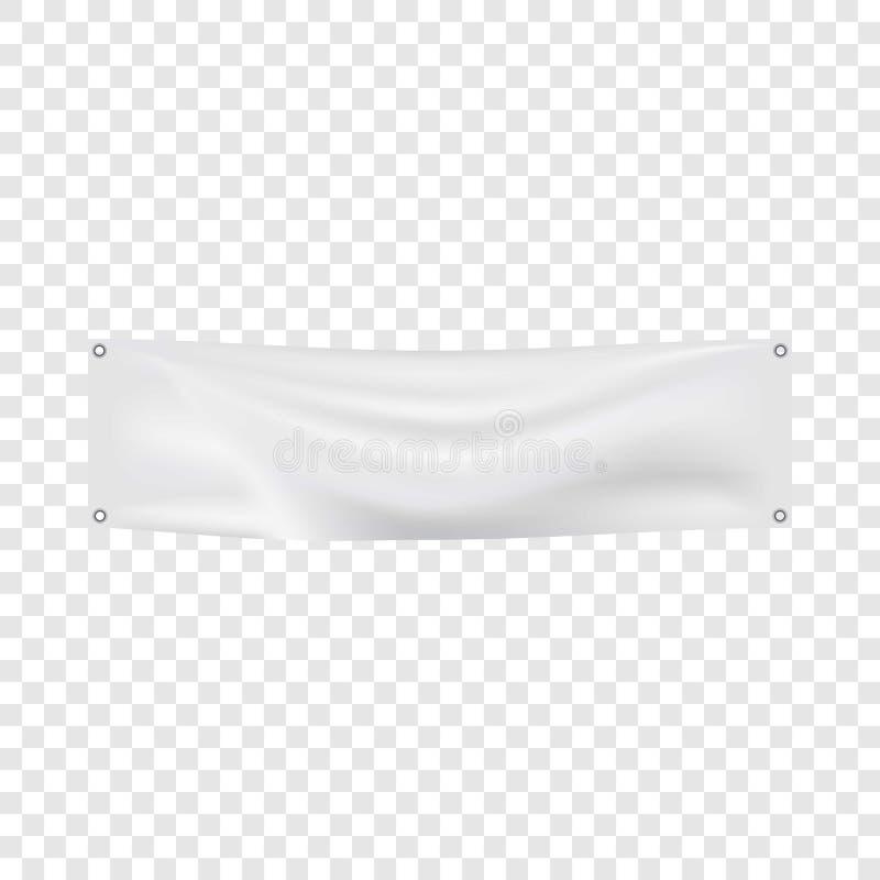 白色横幅大模型,现实样式 向量例证