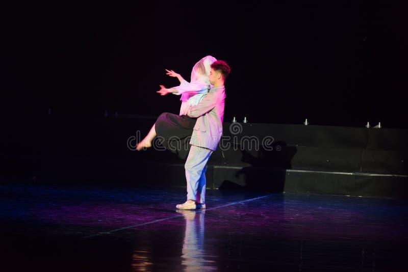 白色毛线Cheongsam 1--舞蹈戏曲驴得到水 图库摄影