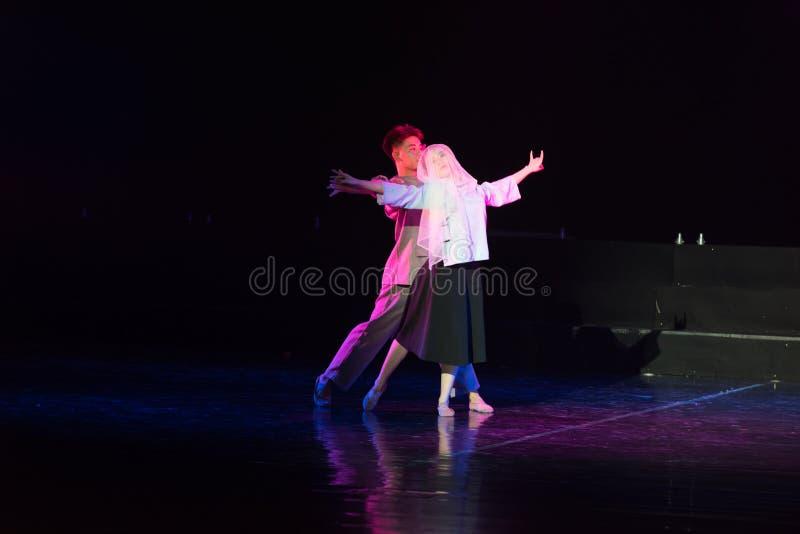 白色毛线Cheongsam 2--舞蹈戏曲驴得到水 免版税库存照片