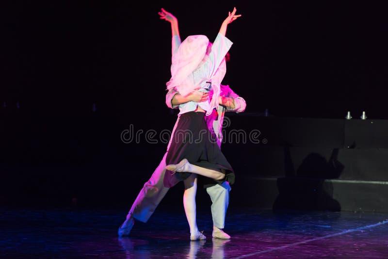 白色毛线Cheongsam 4--舞蹈戏曲驴得到水 图库摄影