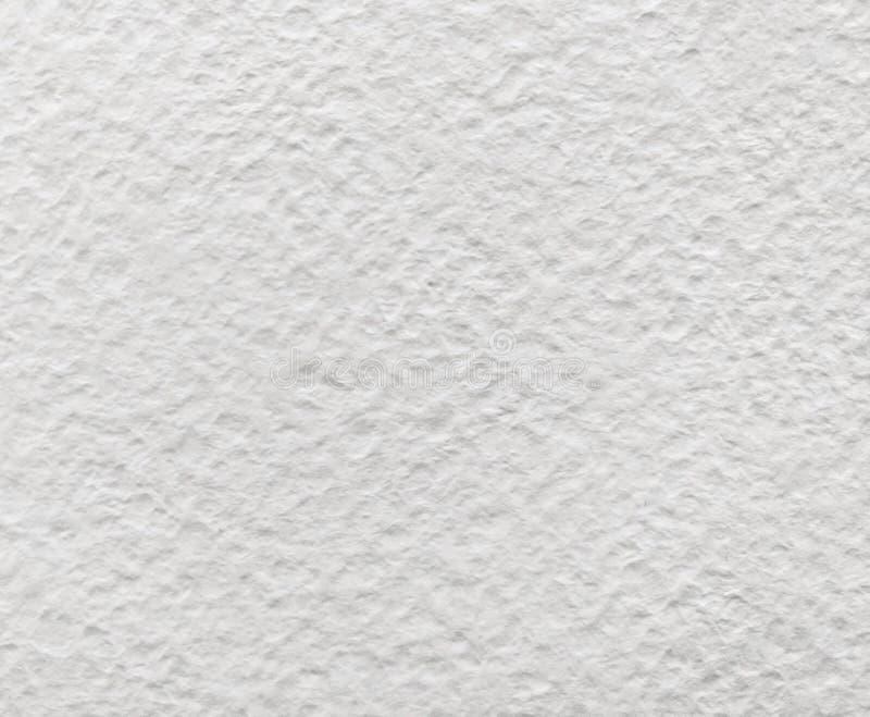 白色水彩粒状概略的纸纹理 库存图片