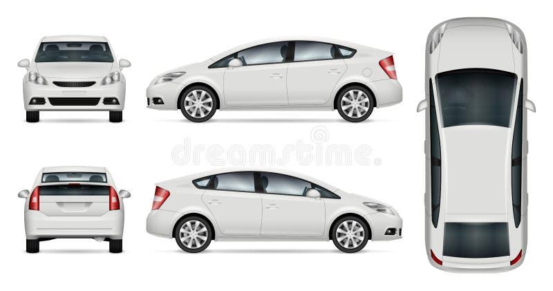 白色汽车传染媒介大模型 皇族释放例证