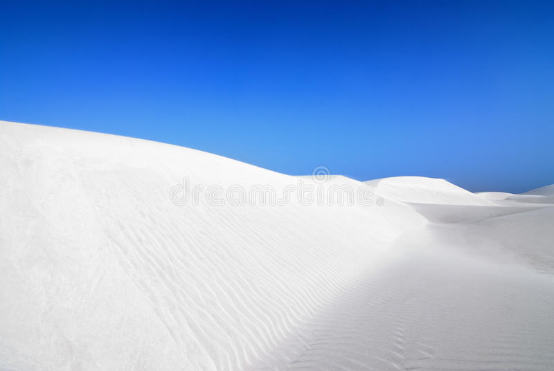 白色沙子 库存照片