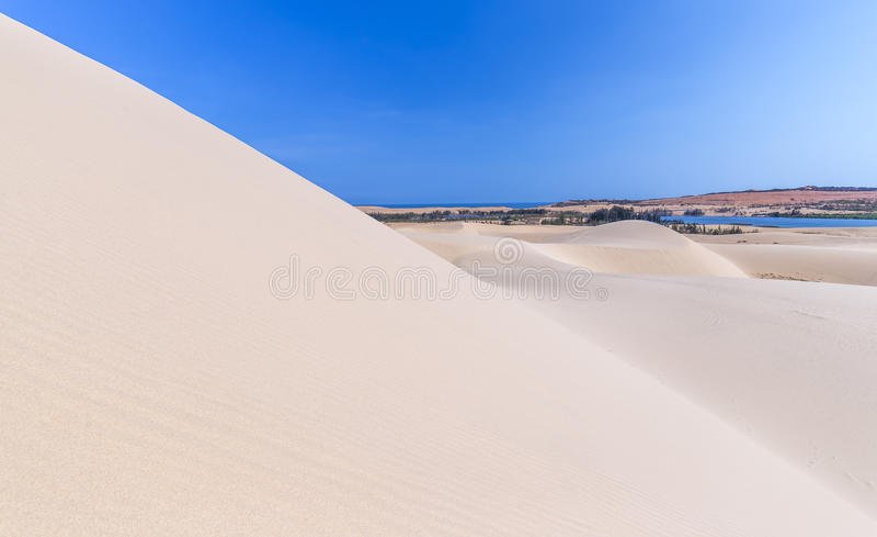 白色沙丘最高的秀丽  库存图片