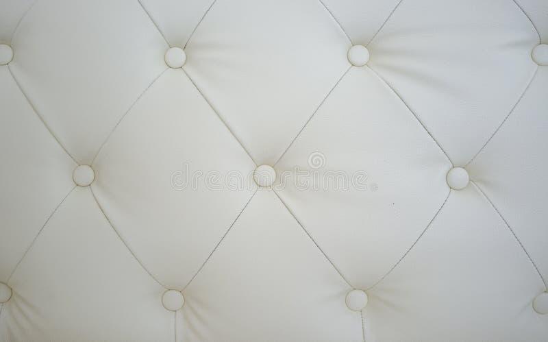 白色沙发纹理 库存照片