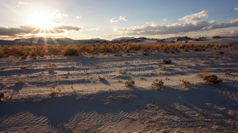 白色沙子沙漠 库存图片