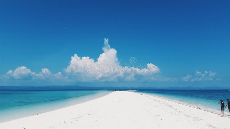 白色沙洲 图库摄影
