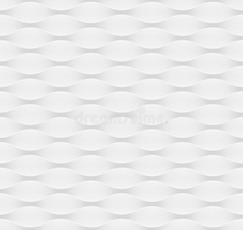 白色波浪纹理 免版税库存照片