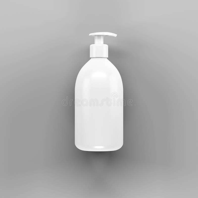 白色浴瓶大模型 库存照片