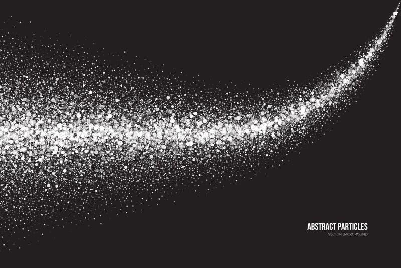 白色淡光发光的圆的微粒传染媒介背景 库存例证