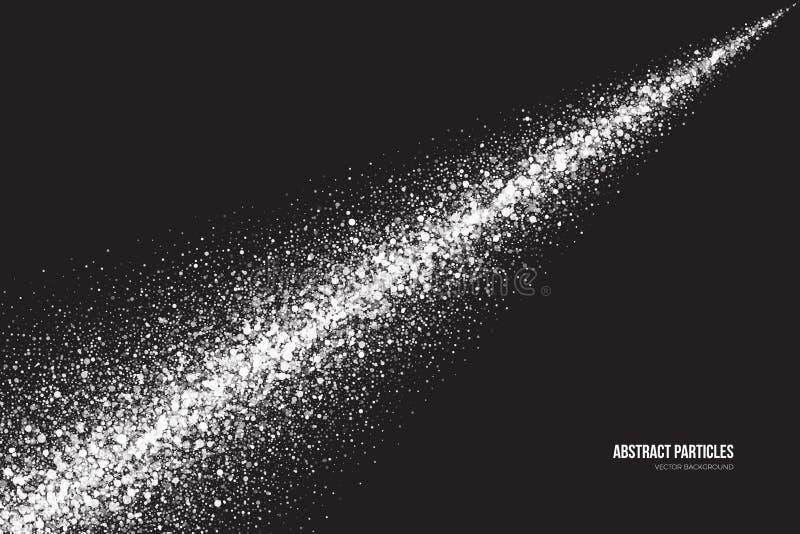 白色淡光发光的圆的微粒传染媒介背景 向量例证