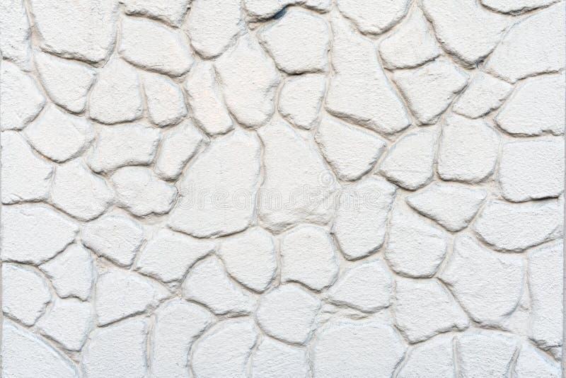 白色混凝土墙和地板作为背景纹理与样式 免版税库存图片