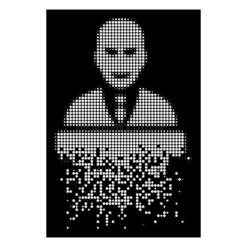 白色溶化的Pixelated半音煽动者象 库存例证