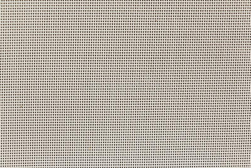 白色滤网帆布,在白色浅灰色的颜色的被编织的纹理样式背景 库存图片