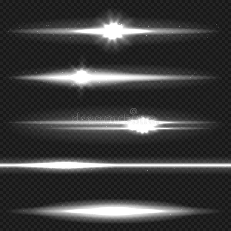 白色激光束组装 皇族释放例证