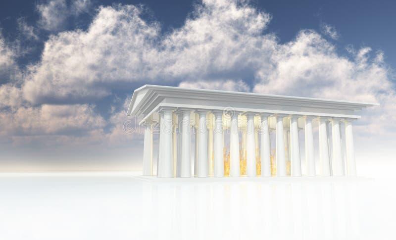 白色火寺庙  向量例证