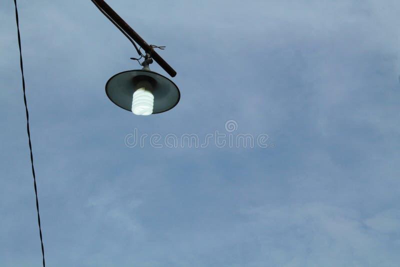 白色灯,一个电灯是设备,版本2 免版税库存照片