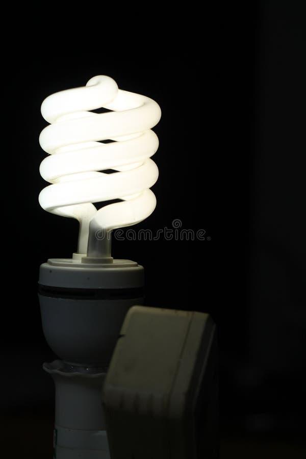 白色灯,一个电灯是设备,版本3 免版税库存图片