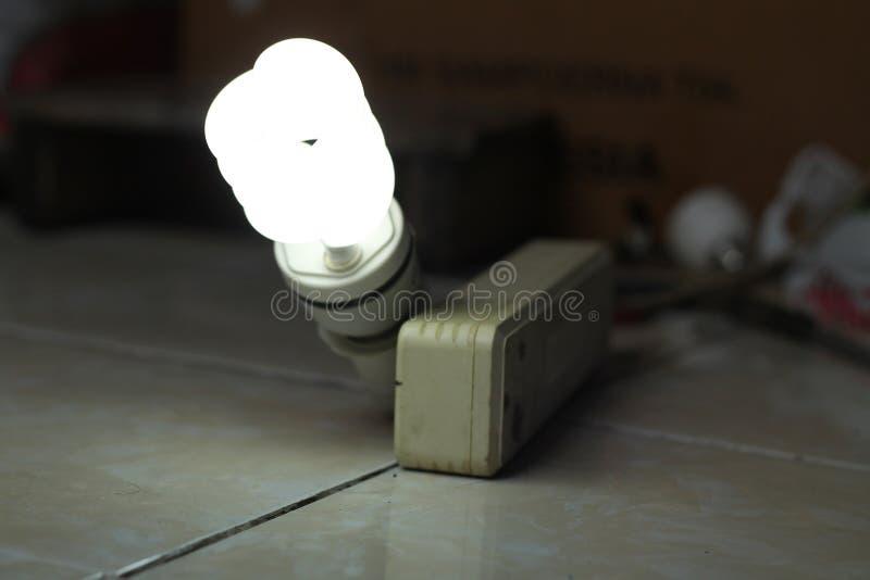 白色灯,一个电灯是设备,版本4 免版税图库摄影